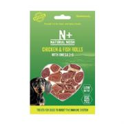 Natural Nosh Chicken & Fish Rolls with Omega 3+ Dog Treats 80g